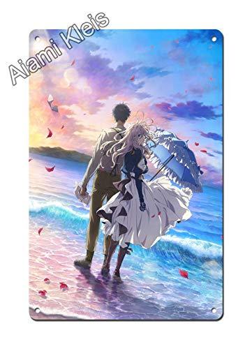 Violet Evergarden Poster - Anime Movie Poster - 2 - Japan Anime Metal Poster 12' x 8' Anime Poster