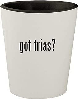 got trias? - White Outer & Black Inner Ceramic 1.5oz Shot Glass