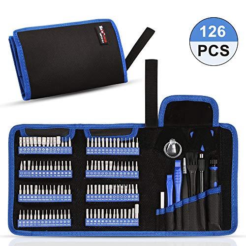 Mini Schraubendreher Set, phixilin 126 teiliges Feinmechaniker Schraubendreher Set Magnetische Präzisions-Schraubendreher-Set Reparatur Werkzeug Set für Smartphones, Tablets, Kameras, Uhren, Brillen