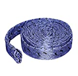 Central Vacuum Hose Cover with Zipper - 35 ft Quilted Padded - Navy Blue - by LifeSupplyUSA