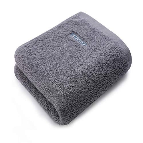 CMZ Toalla de algodón Puro Toalla de Lavado Facial Absorbente Suave Toalla de algodón Adulto Simple y Engrosada (34x74 cm)