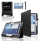 SAVFY® 3en1 Housse en Luxe PU Cuir pour Samsung Galaxy Tab 3 10.1' P5200/P5210 + FILM D'ECRAN +...