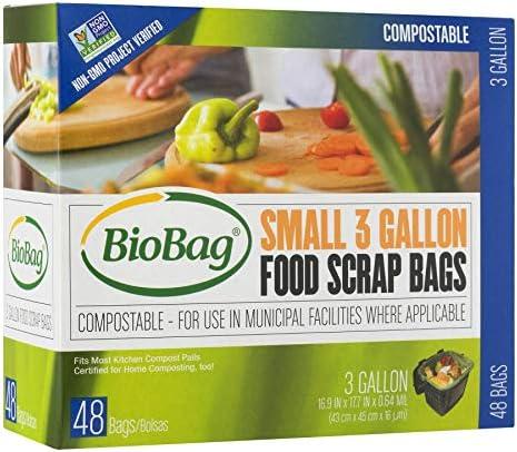 BioBag Compostable Countertop Food Scrap Bags 3 Gallon 576 Count product image