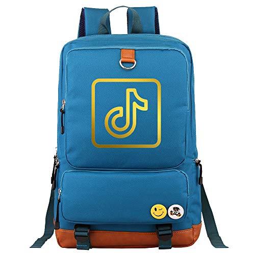 College Notebook Backpack Ladies Computer Backpack Food Meal Bag 45cm * 30cm * 15cm Blue