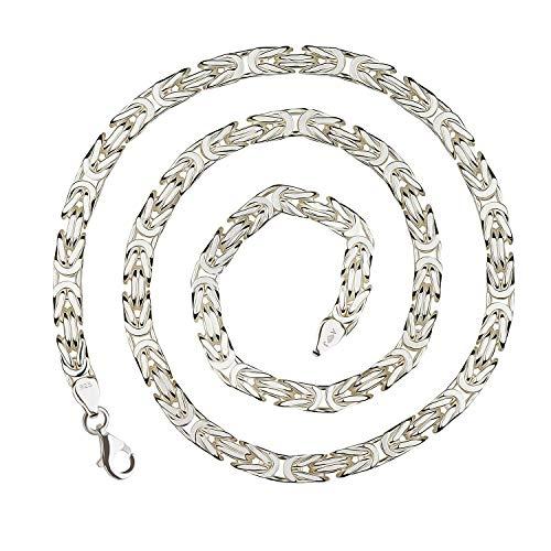 925 Silberkette: Königskette Silber 7mm und 65cm - KK-70-65