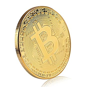 Bitcoin Commemorative Coin 24K Gold Plated BTC Limited Edition Collectible Coin With Protective Case