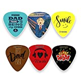 Dad Guitar Picks Celluloid Medium (12-Pack) - Best Dad Ever - Unique...