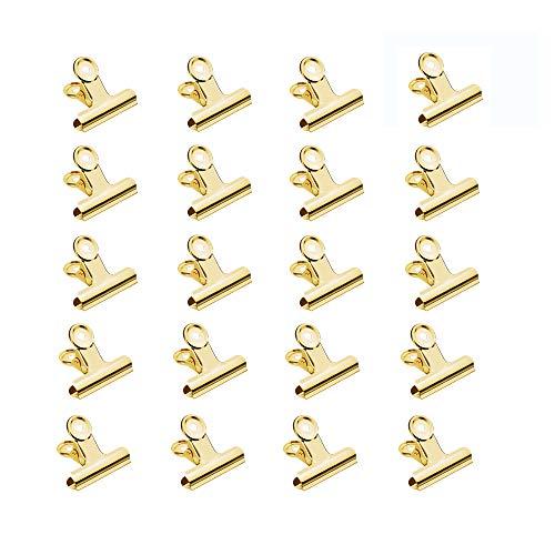 30 Stück Foldback-Klemmen aus Metall für Dokumente, Fotos, Taschen 31mm gold