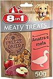 8in1 Snack di Carne Liofilizzati con Anatra e Mela, 50 g