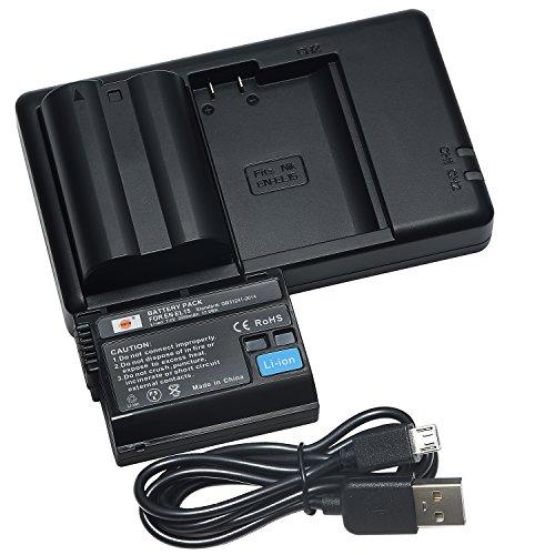 DSTE 2PCS EN-EL15(2550mAh/7.0V) Batería Cargador Compatible para Nikon 1...