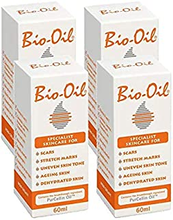 Bio-Oil Specialist Skincare Oil, Remove Stretch Marks - Pack of 4, 60ml