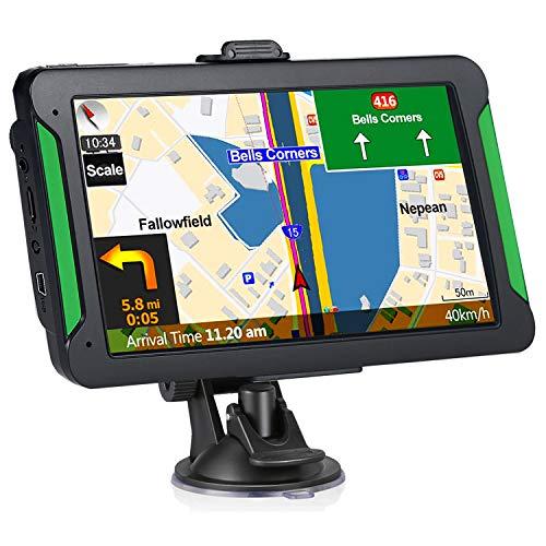 GPS Navigation for Cars, 7-inch Portable Car GPS Navigation System, Built-in 8GB-256MB Real Voice Turn Alarm Satellite Navigator.Lifetime Free Map Updates