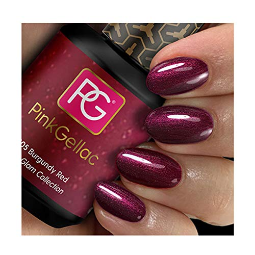Pink Gellac Shellac Gel Nagellack 15 ml für UV LED Lampe | 205 Burgundy Red Rot Dunkelrot | Gel...