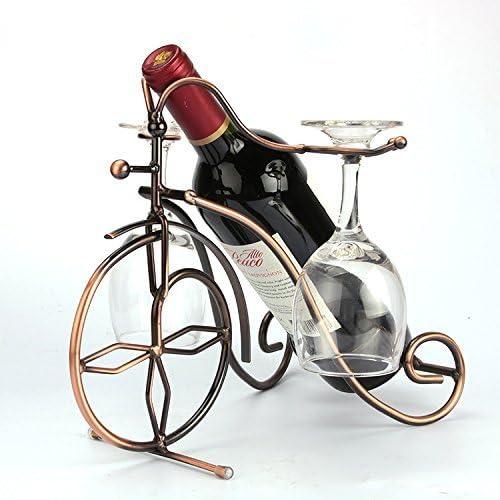 MEOLY Freestanding Bicyle Design Bronze Bottles G Max 64% OFF Mesa Mall Wine 2 Metal