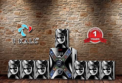 I Kall IK-5555 Multimedia 7.1 Speaker System (Bluetooth, USB, Aux and FM...