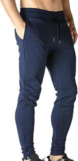 BROKIG Mens Zip Gym Joggers Sweatpants Tracksuit Jogging Bottoms Running Trousers Pockets