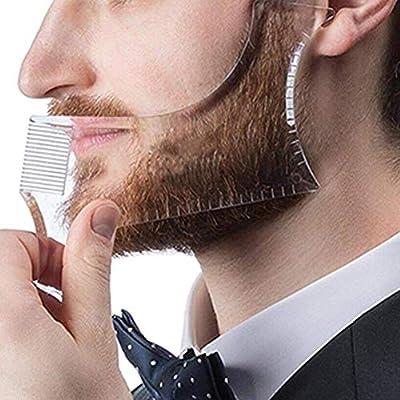 Beard Molding Template, Transparent Men's Beard Shaping & Styling Template Tool for Hair Beard Trim Model