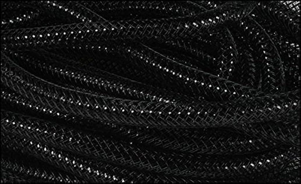 Deco Mesh Flex Tubing with Metallic Foil (Black) 8mm x 30 Yards : RE3004E5
