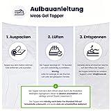 Meos® Gel-Schaum Topper 140×200 für Matratzen & Boxspringbett – Made in Germany – hohes RG 50 – Bezug bis 60°C waschbar – Matratzenauflage (140 x 200 cm) - 3