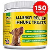 Pawfectchow Allergy Relief for Dogs - Immunity Supplement with Omega 3 Salmon Fish Oil, Colostrum, Digestive...