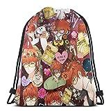 OPLKJ Mystic Messenger - Seven & Unknown Sport Bag Mochila con cordón y saco de gimnasia