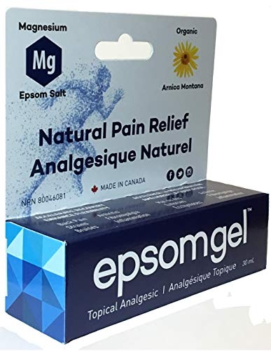 Epsomgel- Solution de soulagement de la douleur 30ml, 100% d'ingrédients naturels, Action rapide