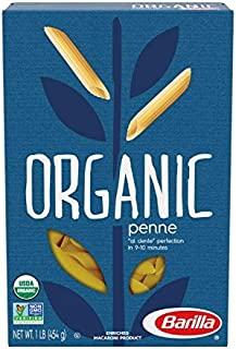 Barilla Organic Pasta, Organic Penne Pasta, 16 Ounce (Pack of 12)