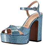 Marc Jacobs Women's Lust Platform Sandal, Light Blue, 39.5 EU/9.5 M US