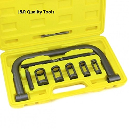 J&R Quality Tools AUTO Solid Valve Spring Compressor C Clamp Service Kit