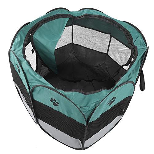 Pet House Cage, transparentes Netz Praktisches und schnelles Haustierzelt, langlebiger, atmungsaktiver Kreißsaal für(M, XBD82 Green Gray no Kettle Toy)