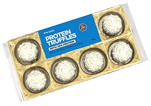 Body Attack Protein Truffles - 10 er Pack, 10 x 80g (White Chocolate Coconut)