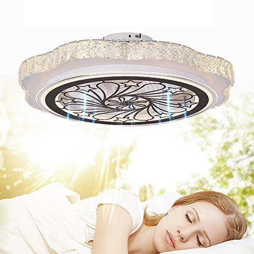 ACHNC Deckenventilator Mit Beleuchtung LED Dimmbar Kristall Deckenleuchte Deckenventilator Mit Fernbedienung Leise, Wohnzimmer Schlafzimmer Kinderzimmer Esszimmer Ventilator Lampe Deckenlampe,48W