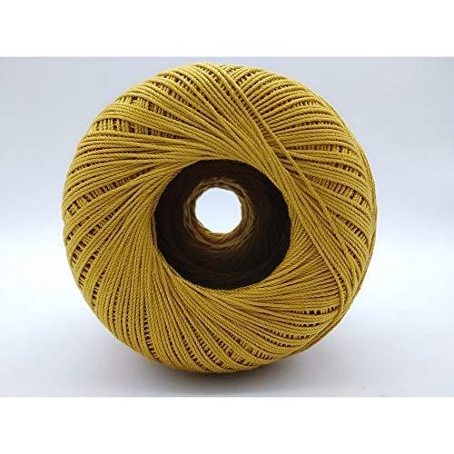 TOMASELLI MERCERIA Cotone Filo Scozia Uncinetto Numero 5 Gomitolo 100 Grammi - Giallo Oro
