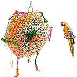 Milopon - Juguete de pájaros de bambú trenzado, juguete para hacer columpios para peluca, aves,...