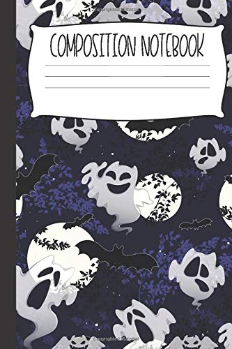 Cute Ghosts Composition Notebook: Fun And Spooky Novelty Halloween Inspired Notebooks For Kids (College-Ruled)