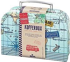 moses Fernweh walizka, uniwersalne pudełko   na prezenty pieniężne i małe przybory podróżne, niebieski, jeden rozmiar