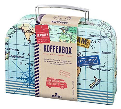 Moses Fernweh Koffer Allzweckbox | Für Geldgeschenke und kleine Reise-Utensilien, blau, One Size