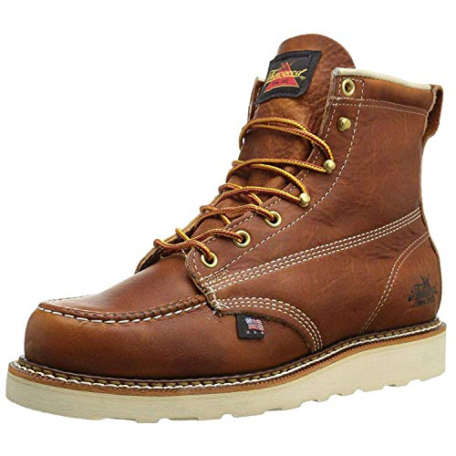 """Thorogood Men's 814-4200 American Heritage 6"""" Moc Toe, MAXwear Wedge Non-Safety Toe Boot, Tobacco - 10 D US"""