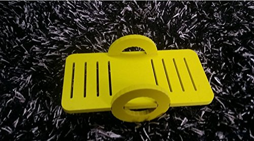 Leayao Small Animal Seesaw for Hamster and Guinea Pigs Funny Toys Play Small Toy Animal Playground Yellow