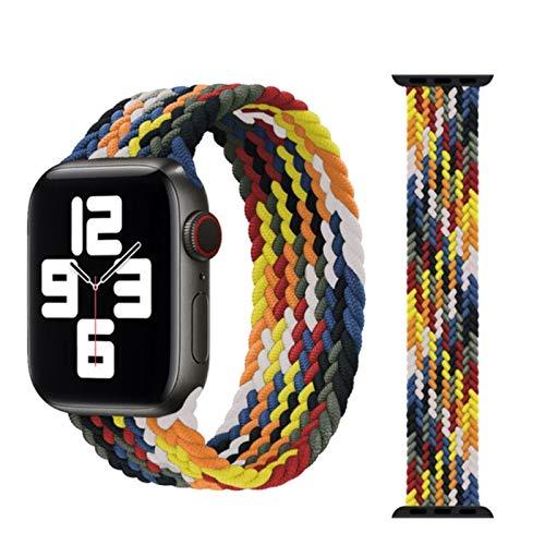 Cinturino intrecciato per Apple Watch Cinturino 44mm 40mm 38mm 42mm Cinturino elastico in nylon tessuto per IWatch Series 3 4 5 Se 6 Strap-rainbow, 38 o 40mm