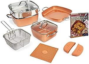 Copper Chef Non-Stick Cookware Set, Caseserole Pots, Pans, and Accessories - 12-Piece Set
