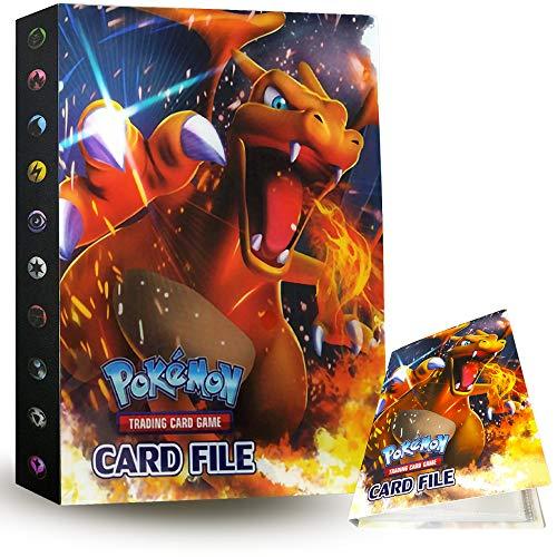 ZoneYan Álbum de Pokemon Album Pokemon, Album de Cartas Pokemon , Album de Cartas Coleccionables, Carpeta Cartas Pokemon, Album Pokemon Cartas , 30 Páginas, hasta 240 Tarjetas (Charizard)