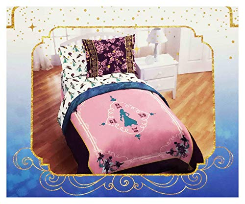 Disney Aladdin Desert Jewel Queen - Juego de cama de 3 piezas, diseño de princesa Jasmine, color rosa y morado