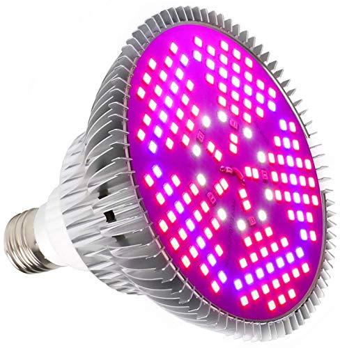 100W Led Pflanzenlampe E27 Grow Light Vollspektrum, Grow Lampe 150 LEDs Pflanzenlicht Pflanzenlampen Wachstumslampe für Pflanzen Gewächshaus Zimmerpflanzen Blüte Blumen und Gemüse