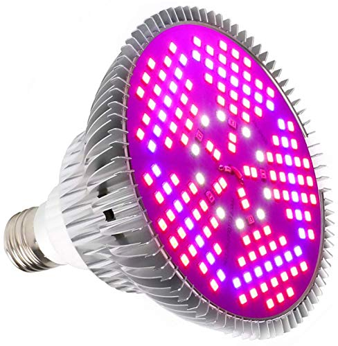 Derlights 100W Led Pflanzenlampe E27 Grow Light Vollspektrum, Grow Lampe 150 LEDs Pflanzenlicht Pflanzenlampen Wachstumslampe für Pflanzen Gewächshaus Zimmerpflanzen Blüte Blumen und Gemüse