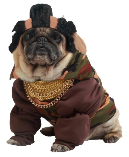Pup-A-Razzi Pity The Bull Dog Costume, Noir