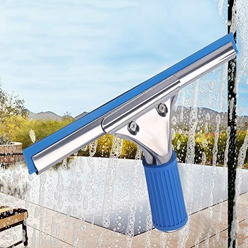 YKWYQ Scheibenwischer Edelstahl Fensterwischer Glaswischer Reinigungs-Set Fenster Schaber Reiniger for Dusche Auto-Spiegel Küche Badezimmer Fussboden (Color : 35cm Glass Wiper)