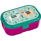 Lutz Mauder Lunchbox * Lama * für Kinder Brotdose mit und ohne Namensdruck | Vesperdose Brotzeit Schule Brotzeitbox Lamas Kindergarten (ohne Name)