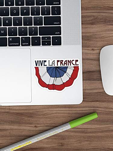Leef La Frankrijk! Sticker Vinyl Sticker voor Auto's, Vrachtwagens, Waterfles, Gitaar, Koelkast, Laptops Stickers- 4 Inch
