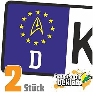 Sternenflotte Abzeichen Kennzeichen Aufkleber Sticker Nummernschild   IN 15 FARBEN